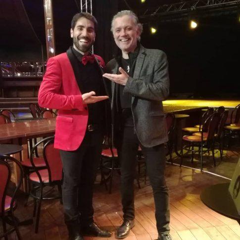 Rafa Durán con Juan Ramón Lucas